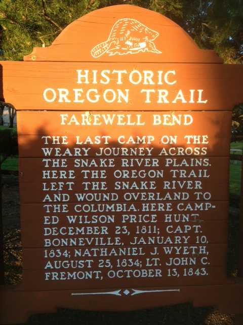 the Historic Oregon Trail.....